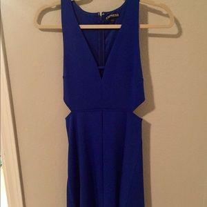 Express cobalt blue cutout dress